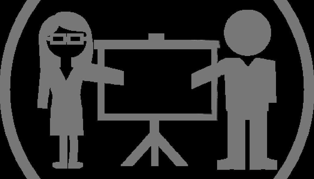 ilusrasjon av 2 foredrags fortellere